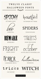 Halloween Fonts | FOUND | Constant Creations