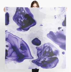Redbubble Marbled Scarf